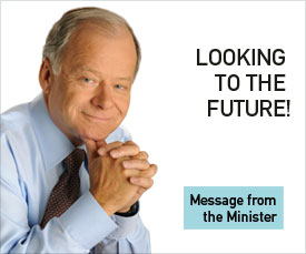 View message of the Finance minister