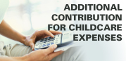 The calculator for your additional contribution for childcare expenses will open in a new window