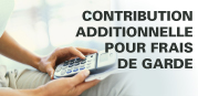 Le calculateur de votre contribution additionnelle aux services de garde subventionnés